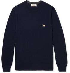 Maison Kitsuné - Slim-Fit Appliquéd Merino Wool Sweater