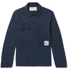 Maison Kitsuné - Artist Appliquéd Cotton Shirt Jacket