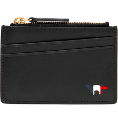 Maison Kitsuné Leather Zipped Cardholder