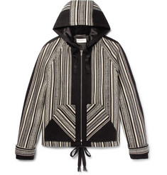 Saint Laurent Ikat-Woven Wool and Cotton-Blend Jacket