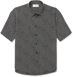 Saint Laurent Slim-Fit Polka-Dot Silk Shirt
