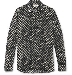 Saint Laurent Printed Silk Crepe de Chine Shirt