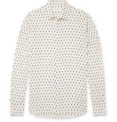 Saint Laurent Slim-Fit Printed Voile Shirt