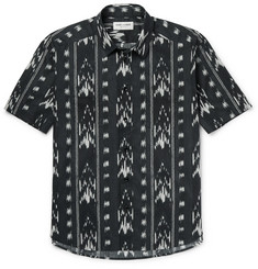 Saint Laurent Ikat-Print Cotton Shirt