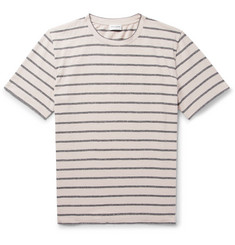 Saint Laurent Striped Slub Cotton-Blend Jersey T-Shirt