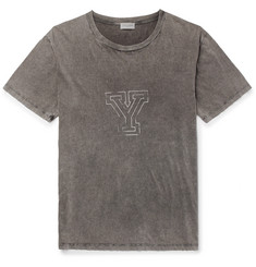 Saint Laurent Oversized Distressed Printed Cotton-Jersey T-Shirt