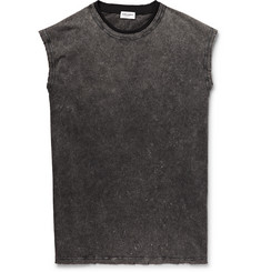 Saint Laurent Slim-Fit Acid-Washed Cotton-Jersey Tank Top
