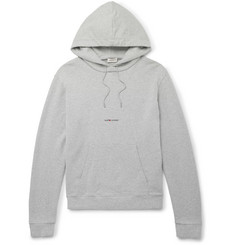 Saint Laurent Printed Cotton-Blend Jersey Hoodie