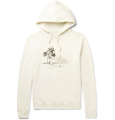 cf5ead96584 Shoptagr | Printed Embroidered Loopback Cotton Jersey Hoodie by Saint  Laurent