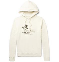 Saint Laurent Printed Embroidered Loopback Cotton-Jersey Hoodie