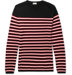 Saint Laurent - Slim-Fit Striped Virgin Wool Sweater