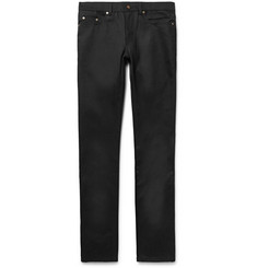 Saint Laurent - Skinny-Fit 15cm Hem Raw Stretch-Denim Jeans