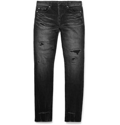 Saint Laurent - Skinny-Fit Distressed Denim Jeans