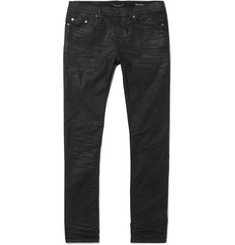 Saint Laurent - Skinny-Fit Coated Stretch-Denim Jeans