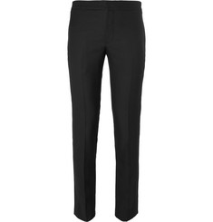 Saint Laurent Slim-Fit Satin-Trimmed Wool and Mohair-Blend Tuxedo Trousers