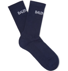 Balenciaga - Intarsia Stretch Cotton-Blend Socks