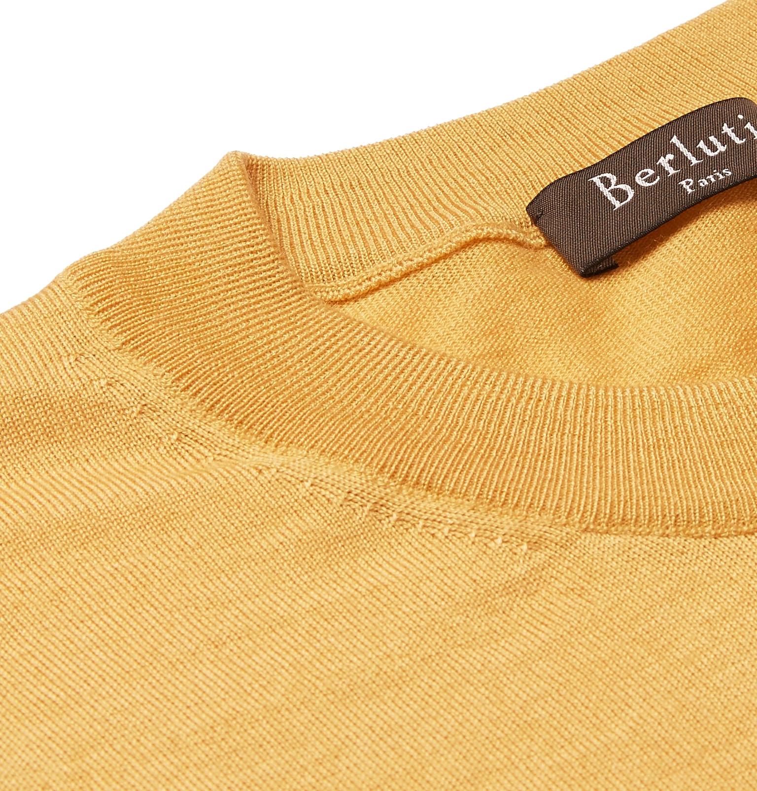 Silk Mulberry Blend Cashmere Berlutiyaac Sweater And qR0tp8E