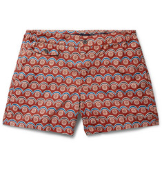 Incotex Slim-Fit Short-Length Printed Swim Shorts