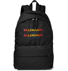 Balenciaga - Explorer Logo-Embroidered Canvas Backpack