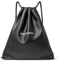 Balenciaga Everyday Printed Leather Drawstring Backpack
