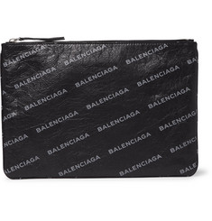 Balenciaga - Supermarket Printed Creased-Leather Pouch