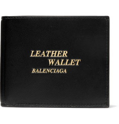 Balenciaga Printed Textured-Leather Billfold Wallet