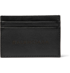 Balenciaga Laser-Cut Leather Cardholder
