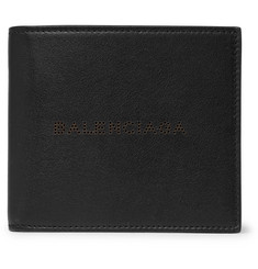 Balenciaga Perforated Leather Billfold Wallet