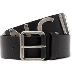 Balenciaga 4cm Black Leather Belt