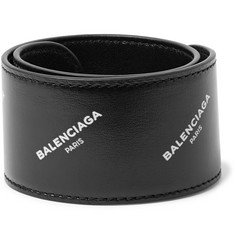 Balenciaga Printed Leather Snap Bracelet