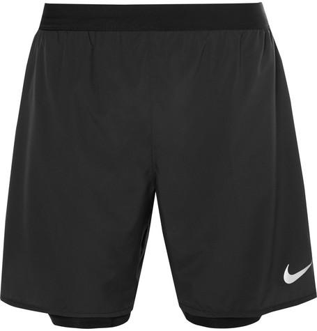 pretty nice 1e741 fe02c Nike Flex Distance Dri-Fit Mesh Shorts In Black