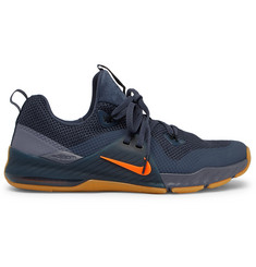 Nike Training - Zoom Train Command Faux Suede-Trimmed Mesh Sneakers