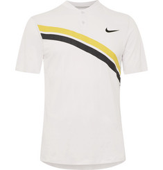 Nike Tennis - Zonal Cooling Roger Federer Striped Dri-FIT Mesh Tennis Polo Shirt