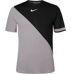 Nike Tennis NikeCourt Zonal Cooling Challenger Two-Tone Dri-FIT Tennis T-Shirt