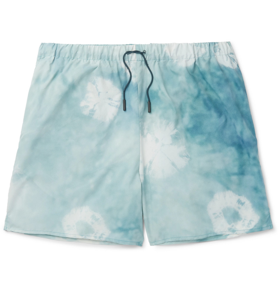 Perry D Mid-length Printed Swim Shorts - Teal