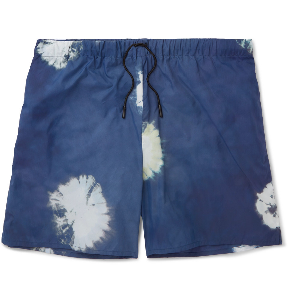Perry D Mid-length Printed Swim Shorts - Navy