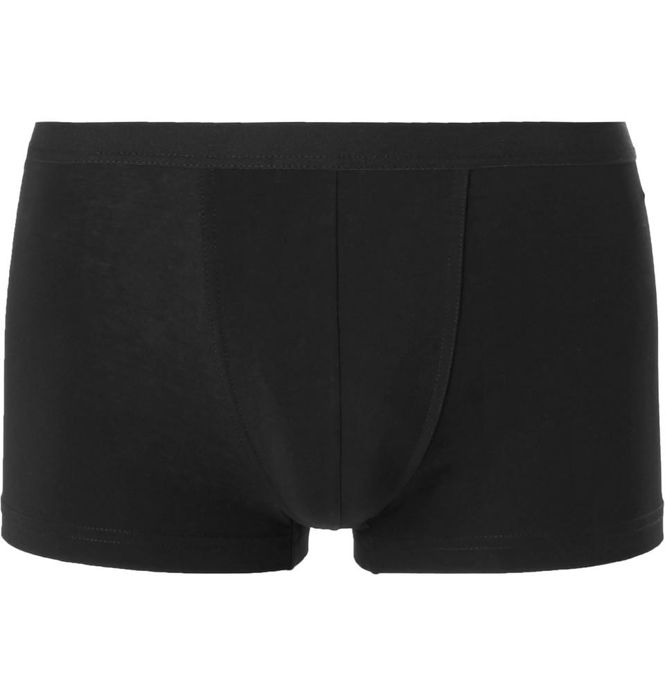 Konrad Stretch-cotton Boxer Briefs - Black