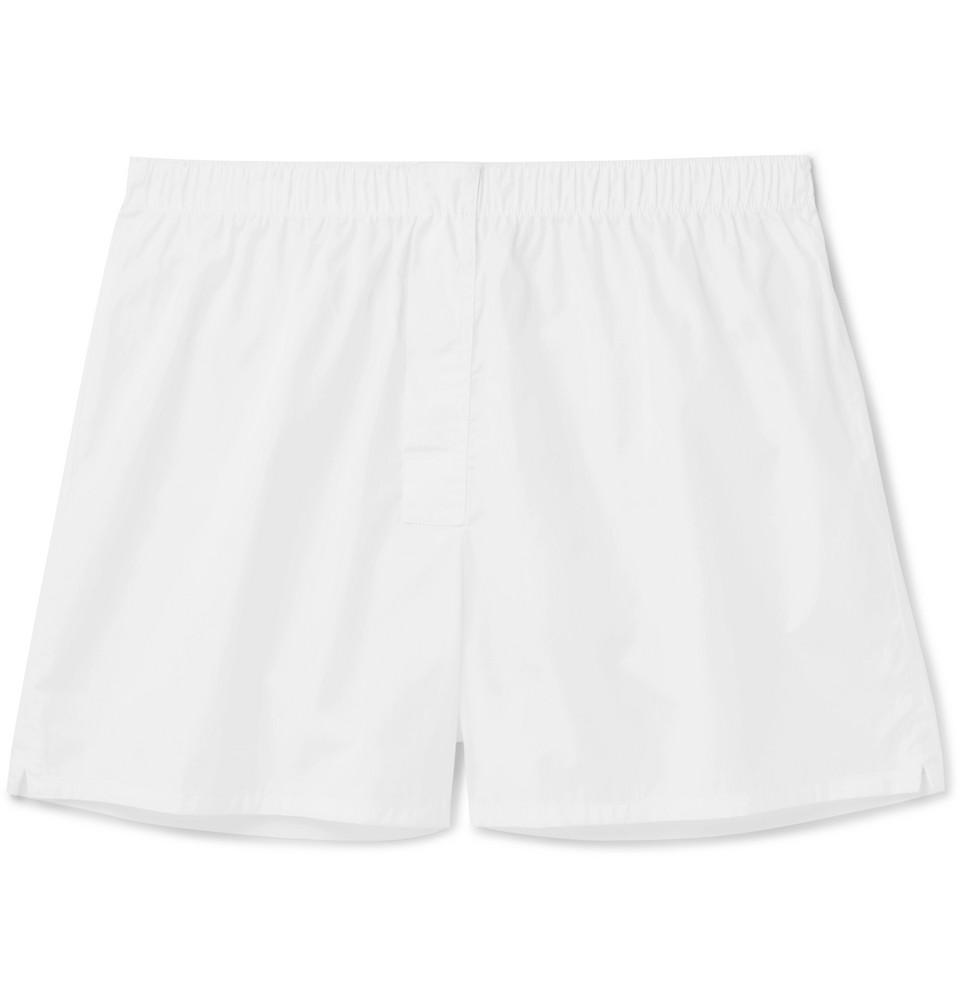 Boxa Cotton-poplin Boxer Shorts - White