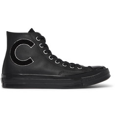 Converse 1970s Chuck Taylor All Star Appliquéd Full-Grain Leather High-Top Sneakers