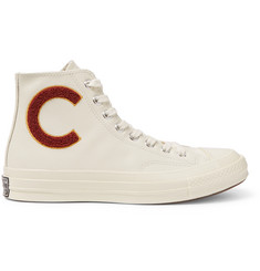 Converse 1970s Chuck Taylor All Star Appliquéd Leather High-Top Sneakers
