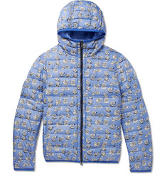 Moncler Oise Slim-Fit Reversible Quilted Printed Shell Hooded Down Jacket