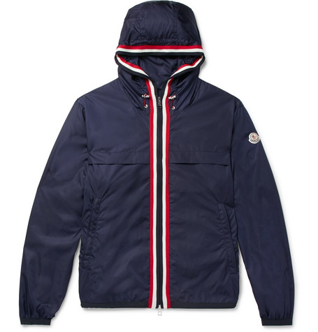 Anton Webbing Trimmed Nylon Hooded Jacket by Moncler