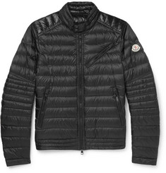 Moncler Royat Quilted Shell Down Biker Jacket