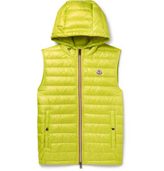 Moncler Gien Slim-Fit Quilted Shell Hooded Down Gilet
