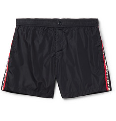 Moncler Grosgrain-Trimmed Shell Swim Shorts