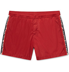 Moncler Mid-Length Grosgrain-Trimmed Swim Shorts