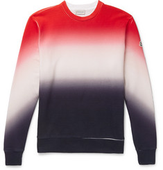 Moncler Dégradé Loopback Cotton-Jersey Sweatshirt