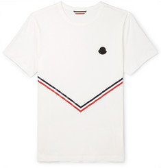 Moncler Striped Cotton-Jersey T-Shirt