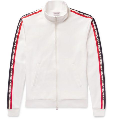 Grosgrain Trimmed Jersey Jacket by Moncler