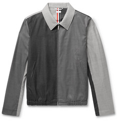 Thom Browne Slim-Fit Colour-Block Wool Blouson Jacket